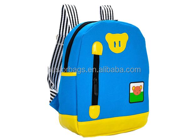 2015 gros élégant Polyester Simple sac à dos scolaire pour enfants