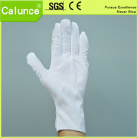 Hot Sale Extra large 130gsm fabric White cotton work gloves