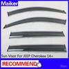 plastic sun visor for Jeep Cherokee 2014 parts from Maiker accessories Rain visor