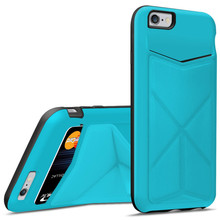 TPU leather case for iphone 6 with stand card slot