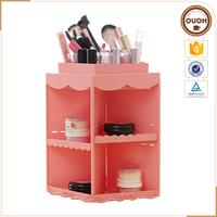 Houseware Plastic Desktop 360 Degree Rotating Makeup Storage Organizer, Nice Gift for Women