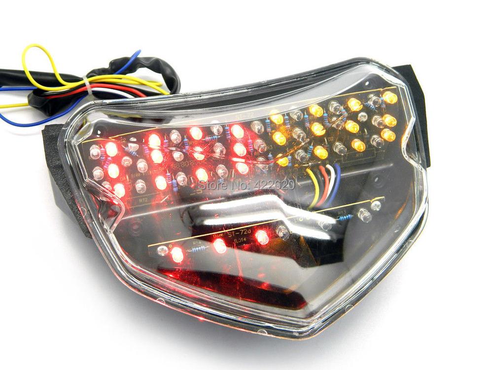 Купить Мотоцикл Ясно LED Задний Фонарь с Поворотник Стоп-сигнал Индикатор Интегрированы для Suzuki GSXR600 GSXR 750 K4 2004-2005 GP