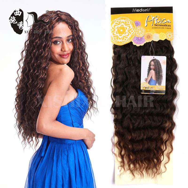 New Arrival Miss Rola Ombre Synthetic Hair Extension Air Deep Wave