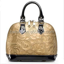 mk fashion handbags leather bags gold for wholesale China
