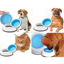 frosty bowl/chilled pet water bowl/keep water fresh&cold for hours long