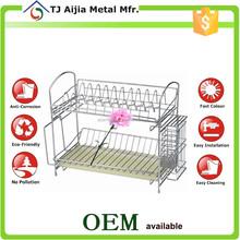 Chrome Metal Wire Dish Drainer Dryer Tray Cutlery Holder Organizer