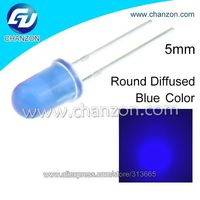 professional manufacturer round diffused led diode blue 5mm through hole LED light led diode 5mm ultra bright