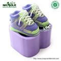 H0219 flexível azul ou laranja silicone sabão moldes para sapatos de salto alto