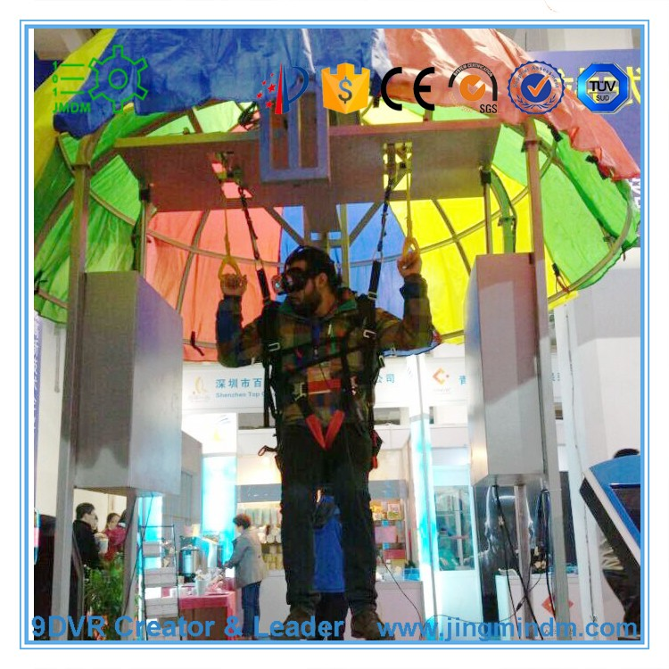 Oculus rift Dk2/HTC vive 9D VR Skydiving simulator cinema Virtual reality 9D film parachute jumping simulation