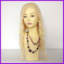 New products 100% blonde virgin remy double drawn human hair wig human hair lace wig with all kinds of colors