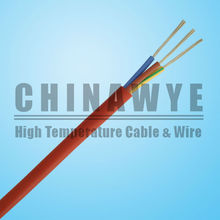 High voltage 2 core silicone coated sihf cable