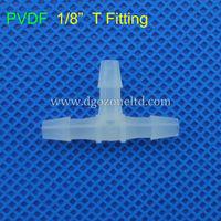 "1/8"" PVDF Tee fitting, plastic tee connector"