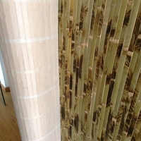 Beautiful interior decoratiion natural materail burned bamboo tiger wall paper
