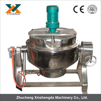 stainless steel automatic steam cooking jacketed kettle