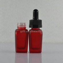 matte clear/red/black 1oz eliquid glass bottle with childproof glass pipette
