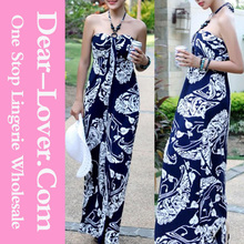 wholesale made in China Lady's Printed Halter Maxi Dress