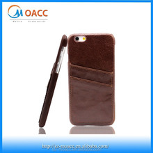 Genuine Leather back wallet mobile phone case for iphone 6 6 plus
