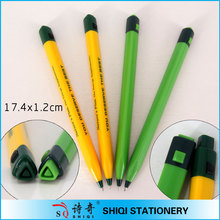 Big logo printed 3 sides plastic ball point pens