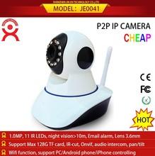 Jinentech wireless 720p pan tilt and audio intercom support tf card cctv camera