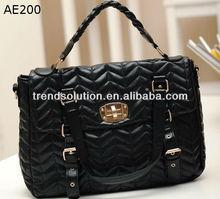 black pu latest handbag trends 2013