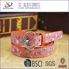 2015 Fashion Floral Fabric Painted Stitching Skinny Fashion Belts For Women