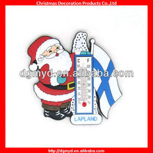 Promotion Santa Claus Custom fridge magnet with thermometer (MYD-20130730)