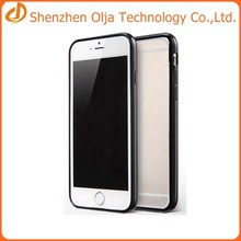 silicon+tpu+pc cover case for iphone 6,transparent cover case for iphone 6,for iphone 6 bumber case