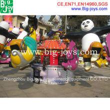 16 seats panda design electric ride on animals for sale, children fiberglass animal ride