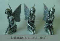 zinc alloy fairy,pewter fairy figurine,metal fairy statue