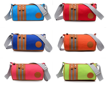 best seller 100% cotton canvas cross body sling bag for girls, six candy colors for yoru choice