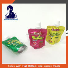 BOSINI / Food grade printed stand up Jelly pouch with spout plastic packing bag