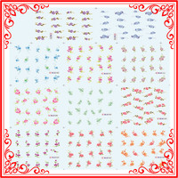 S06-144 Newest Water Transfer Nail Sticker Classical Flower Design Nail Art