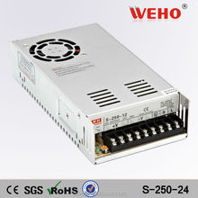 CE RoHS approved factory outlet 250w 10a 24v dc power supply