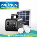 Sp05-19 multifuncional batería recargable portátil sistema de iluminación banco de la energía solar kit con 3 W panel solar