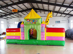 5.7*4.8*2.2m Children Playground Equipment Bouncy Inflatable House Of Bounce