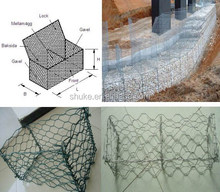 Alibaba supplier galvanized hexagonal welded gabion box, stone cage wall