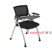 comfortable wheeled training chair with writing tablet