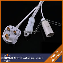 Factory direct sale British BS UK rock salt lamp power cord assembly