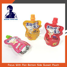 BOSINI / Food grade cartoon Stand up juice plastic packing bag with spout pouch
