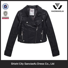 Fashion Winter Kawasaki Motorbike Leather Jacket For Women