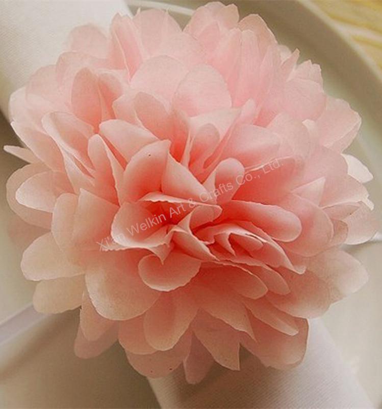 Tissue craft paper ball flowers pom poms buy craft paper ball paper pink flowerg mightylinksfo