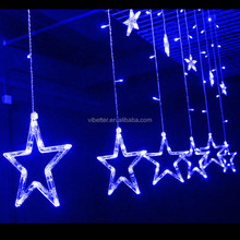 2meter 138 led 12pcs stars 8 different flash models led twinkling stars led christmas star curtain lights