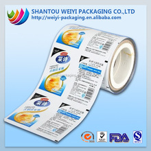 Custom printing different size plastic packaging roll film for sachet shampoo