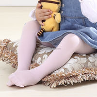 Solid color nylon tights wholesale silk stockings for baby girls