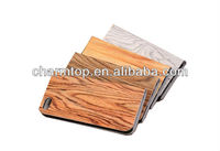 2013 Newly Wood Leather Flip Case For Apple iPhone 5C