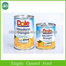 3kg Canned Mandarin Orange with good taste canned fruit for low price can mandarin in syrup