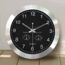 Aluminium simple large quartz decorative wall clock