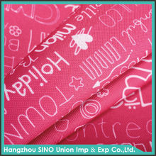 fashion print fabric textile pvc pu coated oxford fabric wholesale waterproof fabric for canopy