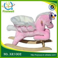 Funny plush rocking horse on wheels rocking horse handles