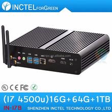 World's Smallest Base Mini PC fanless haswell Intel Core i7 4500U 1.8Ghz USB3.0 DP htpc case mini itx